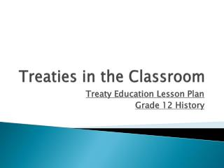 Treaties in the Classroom