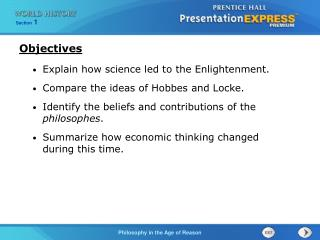 Explain how science led to the Enlightenment. Compare the ideas of Hobbes and Locke.