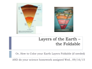 Earth Layers Foldable