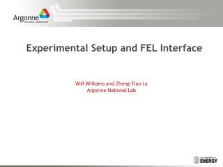 Experimental Setup and FEL Interface