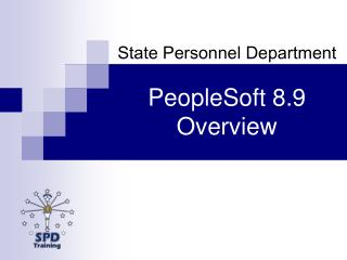 PeopleSoft 8.9 Overview