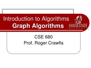 Introduction to Algorithms Graph Algorithms