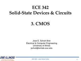 ECE 342 Solid-State Devices & Circuits 3.  CMOS