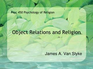 Object Relations and Religion