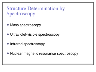 UV-VIS and IR Molecular Spectrometry