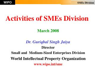 Activities of SMEs Division