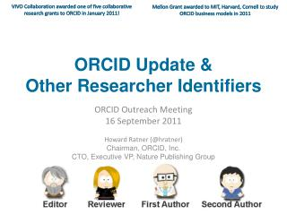 ORCID Update &  Other Researcher Identifiers