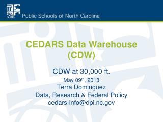 CEDARS Data Warehouse (CDW)