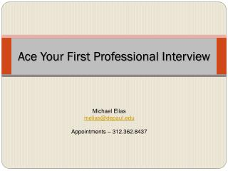 Ace Your First Professional Interview