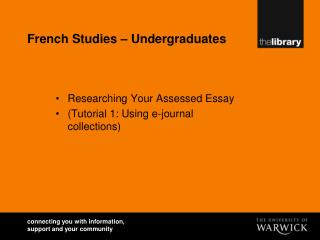 French Studies – Undergraduates