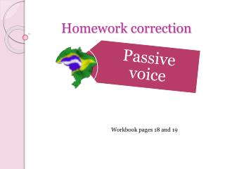 Homework correction