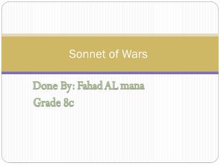 Sonnet of Wars