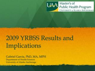 2009 YRBSS Results and Implications