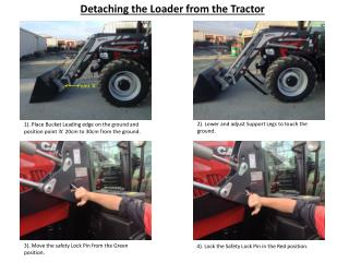 Detaching the Loader from the Tractor