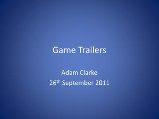 Game  Trailers