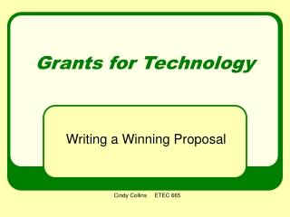 Grants for Technology