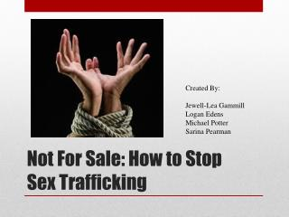 Not For Sale: How to Stop Sex Trafficking