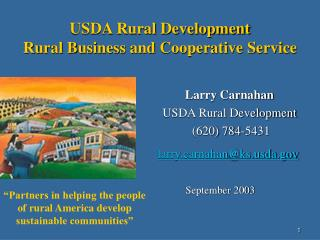 USDA Rural Development Rural Business and Cooperative Service