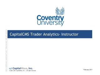 CapitalCMS Trader Analytics-  Instructor