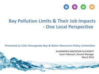 Bay Pollution Limits & Their Job Impacts