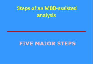 Steps of an MBB-assisted analysis