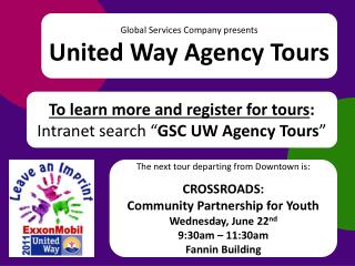 Global Services Company presents United Way Agency Tours
