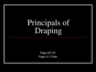 Principals of Draping