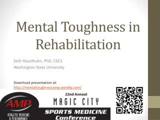 Mental Toughness in Rehabilitation