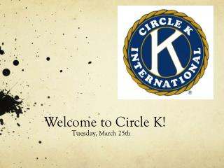 Welcome to Circle K!