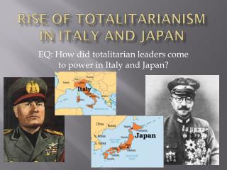 Rise of Totalitarianism in Italy and Japan