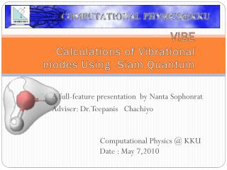 VIBE Calculations of Vibrational modes Using  Siam Quantum