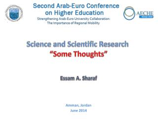 "Science and Scientific Research  ""Some Thoughts"""