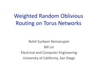 Weighted Random Oblivious Routing on Torus Networks