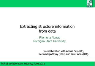 Extracting structure information from data