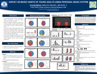 SURVEY ON MUSIC HABITS OF YOUNG ADULTS USING PERSONAL MUSIC ...