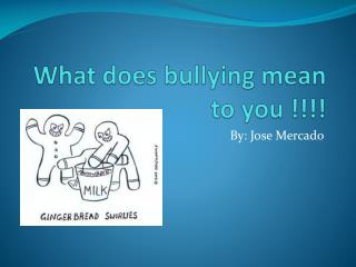 What does bullying mean to you !!!!