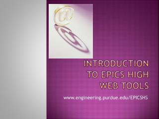 Introduction to EPICS High Web Tools
