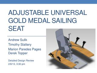 Adjustable Universal Gold Medal Sailing Seat