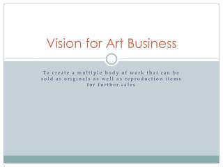 Vision for Art Business