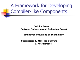 Compiler course