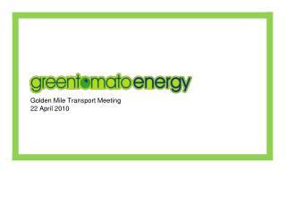 Golden Mile Transport Meeting 22 April 2010