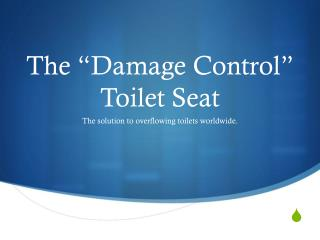 "The ""Damage Control"" Toilet Seat"