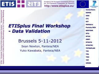 ETISplus Final Workshop - Data Validation