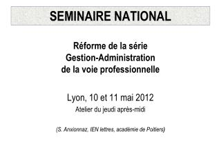 SEMINAIRE NATIONAL