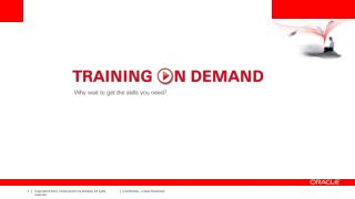 """What Is """"Training On Demand""""?"""