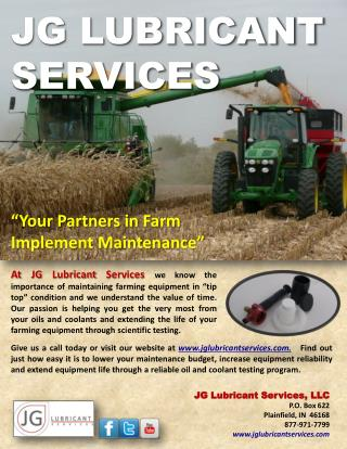 JG LUBRICANT SERVICES