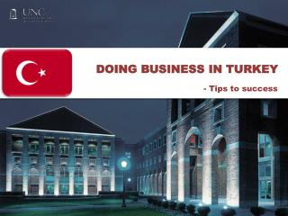 DOING BUSINESS IN TURKEY