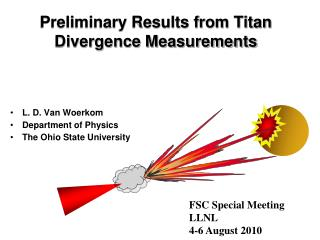 Preliminary Results from Titan Divergence Measurements
