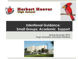 Intentional Guidance:  Small Groups: Academic  Support