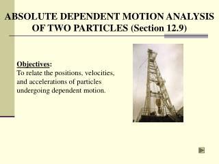 ABSOLUTE DEPENDENT MOTION ANALYSIS  OF TWO PARTICLES (Section 12.9)